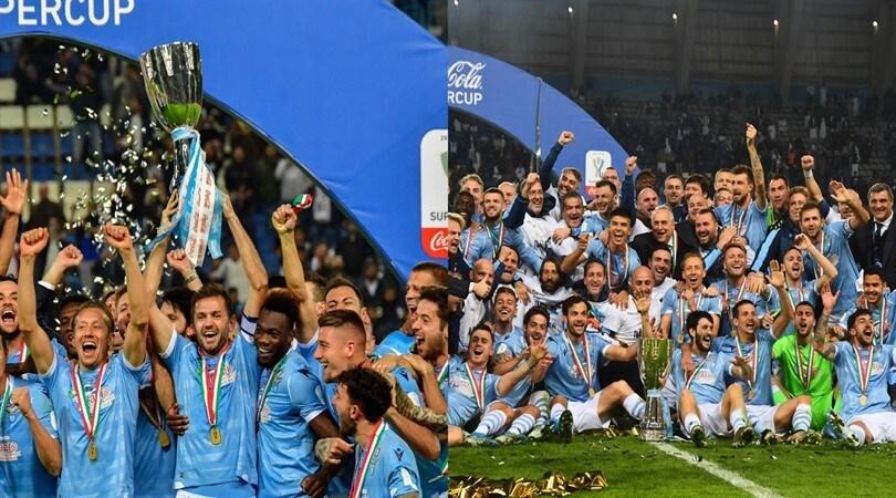 Lazio, che festa! Lulic alza al cielo la Supercoppa