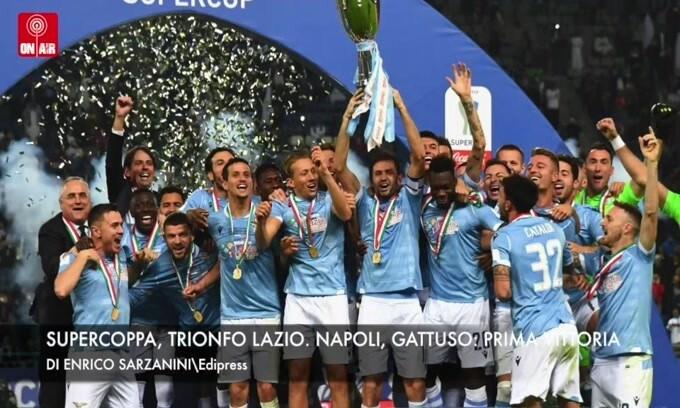 Supercoppa, trionfo Lazio. Napoli, Gattuso: prima vittoria