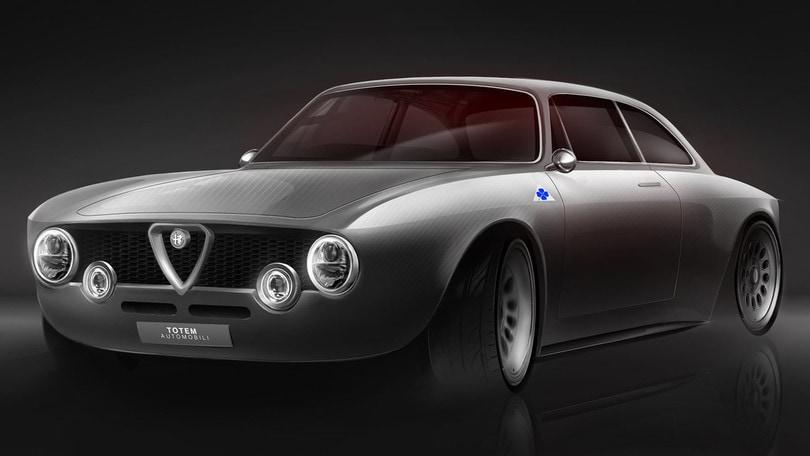 Totem GT Electric fa rinascere il mito dell'Alfa Romeo Giulia Sprint