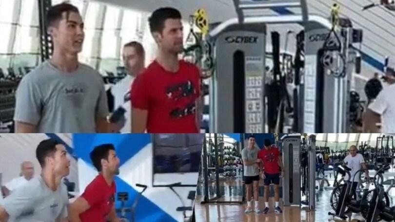 """Cristiano Ronaldo e l'allenamento con Djokovic: """"Gli insegno come si salta"""""""