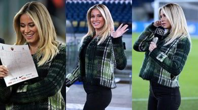 Diletta Leotta incanta all'Olimpico