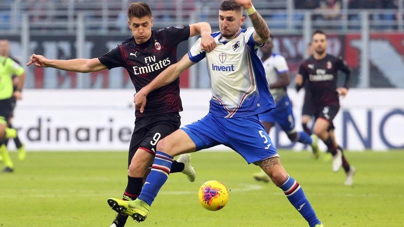 Milan-Sampdoria 0-0, il tabellino