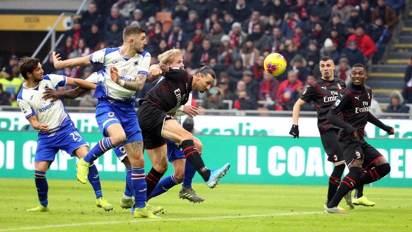 Serie A: Ibrahimovic sfiora il gol ma non basta al Milan. L'Atalanta travolge il Parma