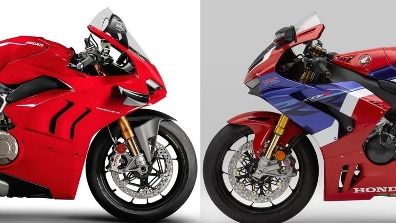 Honda CBR 1000 RR-R vs Ducati Panigale V4: il confronto