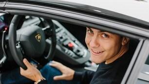 Dybala in Lamborghini, le foto