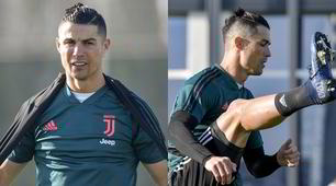 Cristiano Ronaldo, il look è impeccabile anche in allenamento