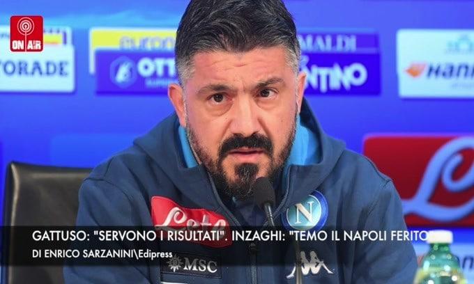 """Gattuso: """"Servono i risultati"""". Inzaghi: """"Temo il Napoli ferito"""""""