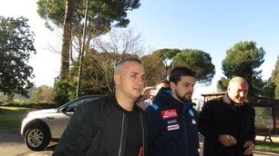 Napoli, Lobotka a Villa Stuart per le visite mediche