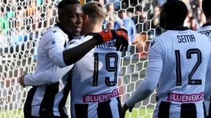 L'Udinese dà spettacolo: tre gol al Sassuolo per la terza vittoria di fila