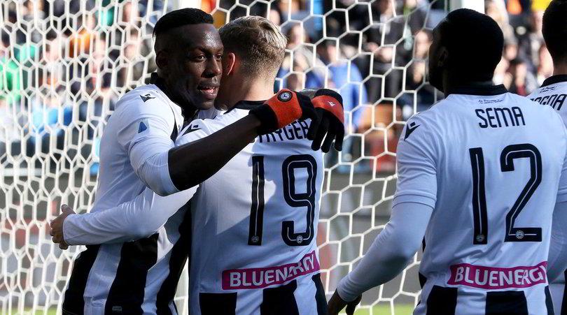 Udinese-Sassuolo 3-0: Okaka e compagni agganciano il Napoli