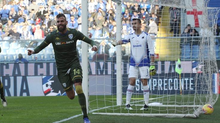 Chancellor, difensore del Brescia, realizza al 12° l'illusorio 0-1 per i suoi; Sampdoria-Brescia 0-1.