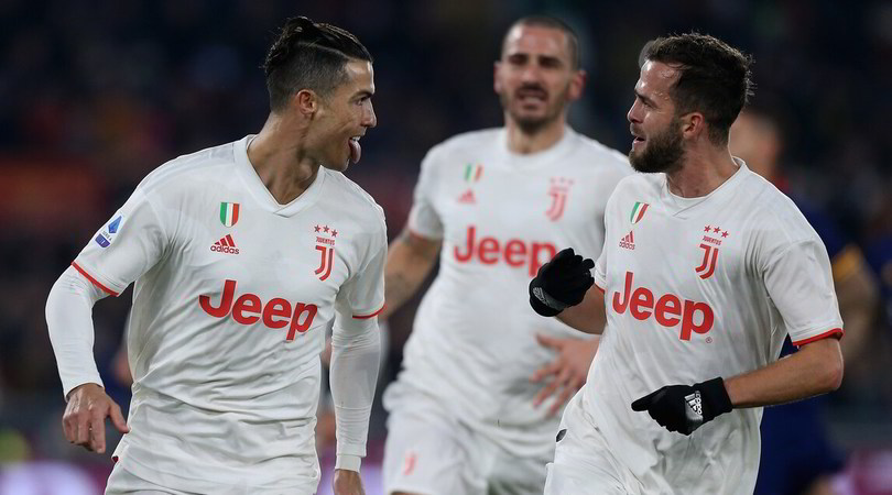 Roma-Juve 1-2: Sarri Campione d'inverno. Grave infortunio per Zaniolo