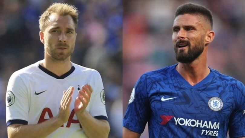Ausilio a Londra: l'Inter stringe per Eriksen e Giroud