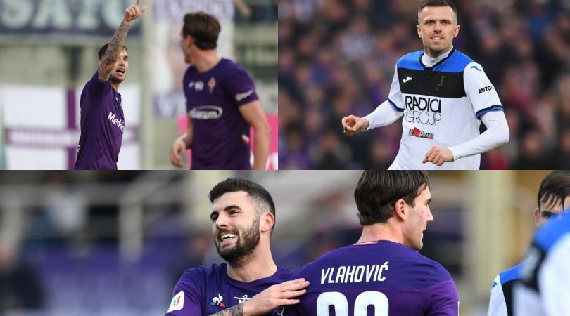 La Fiorentina in 10 sconfigge la Dea. Decisivo Lirola