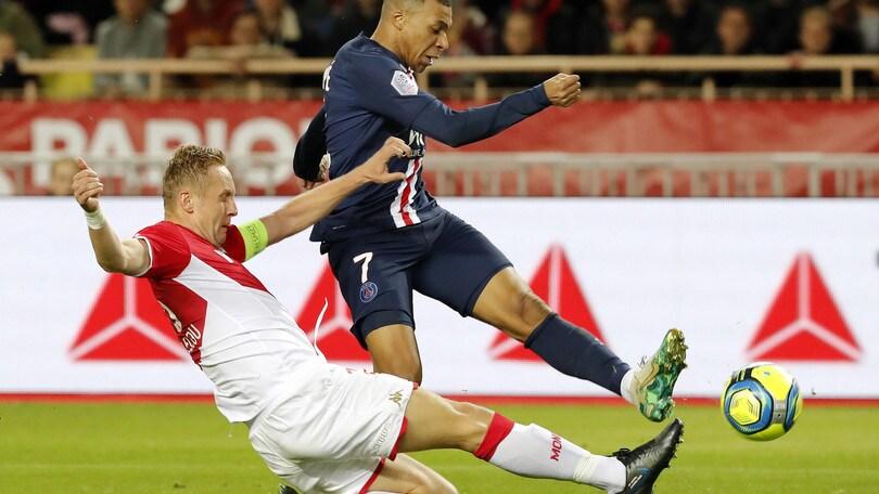 Ligue 1, Poker del Psg sul Monaco: gol di Neymar e doppietta di Mbappé