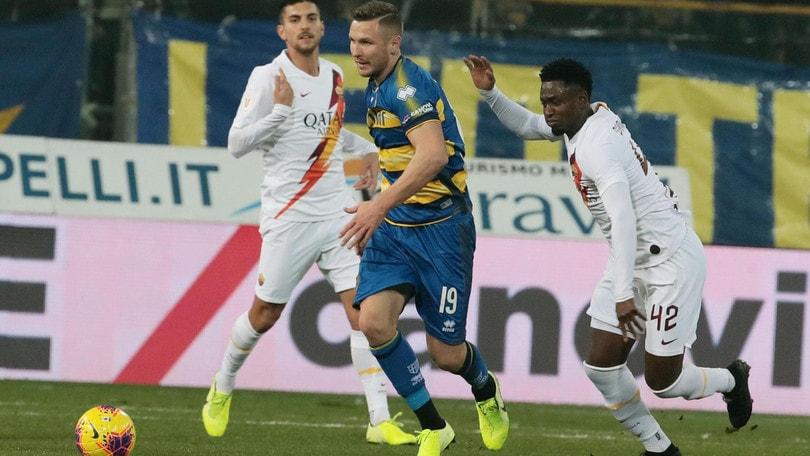 Coppa Italia Parma-Roma 0-2, il tabellino