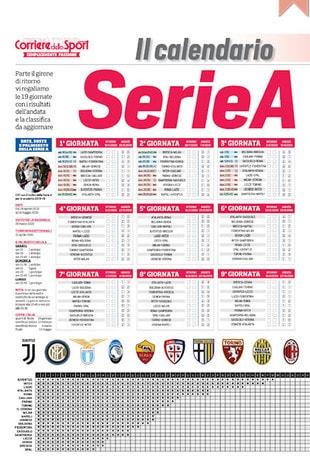 In edicola il calendario di Serie A
