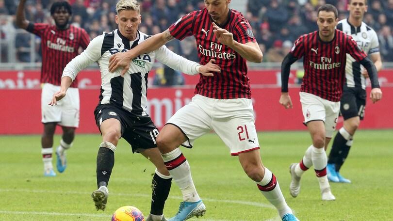 Milan-Udinese 3-2, il tabellino