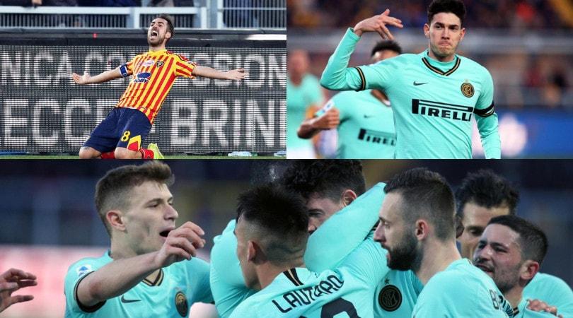 Mancosu frena l'Inter. A Lecce Conte fa solo 1-1