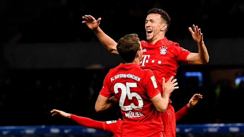 Il Bayern Monaco distrugge 4-0 l'Hertha Berlino. In gol anche Perisic