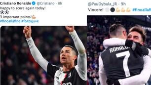 Juventus, che festa sui social dopo il 2-1 al Parma
