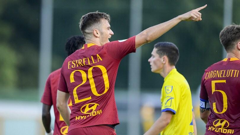Roma, la prima di Estrella: l'attaccante della Primavera convocato per la Juve