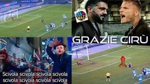Immobile scivola contro il Napoli e scatena le ironie sui social