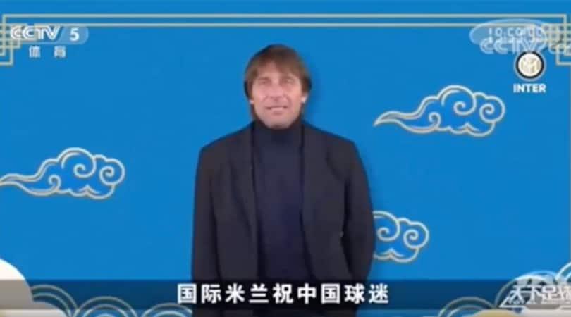 Inter, Conte e il messaggio d'auguri per il Capodanno cinese