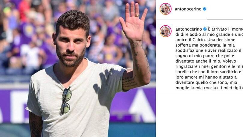 Nocerino dice addio al calcio giocato: