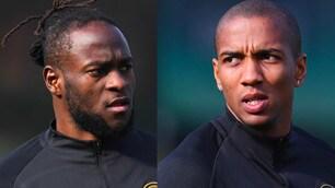 L'Inter si allena per il Cagliari: ci sono anche Young e Moses