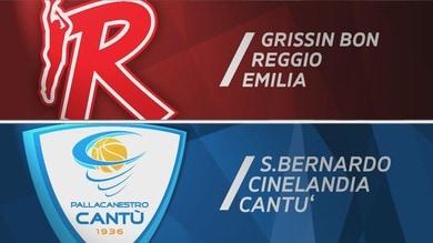 Grissin Bon Reggio Emilia - S.Bernardo-Cinelandia Cantù 85-73