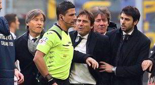 Inter-Cagliari, Conte è una furia con Manganiello!