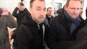 Eriksen arriva a Milano, le immagini