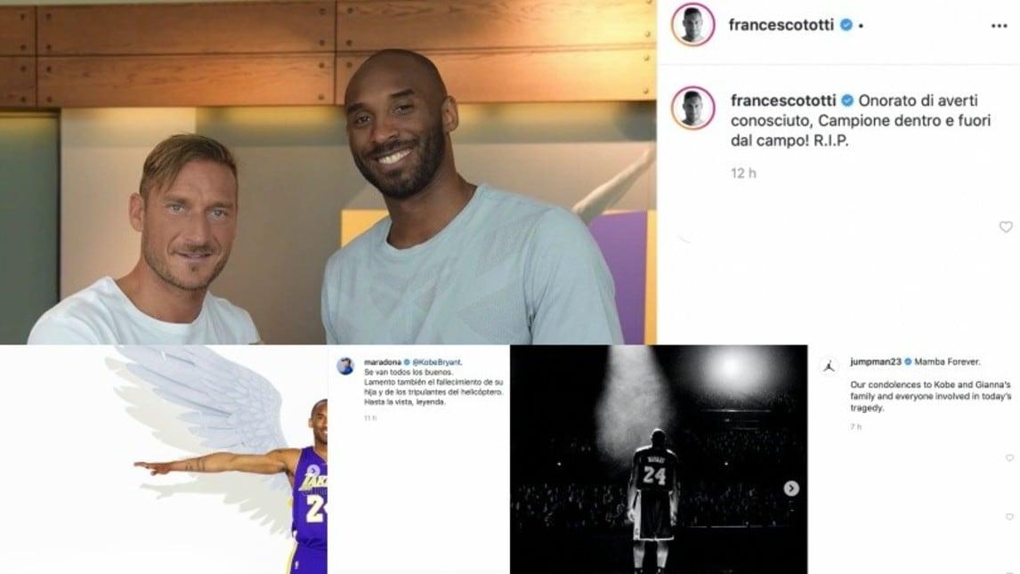 Anche Michael Jordan, Hamilton, Messi, Cristiano Ronaldo e tanti altri hanno voluto omaggiare il cestista scomparso a 41 anni dopo un tragico incidente in elicottero