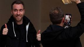 Inter, ecco Eriksen: visite mediche e selfie con i tifosi
