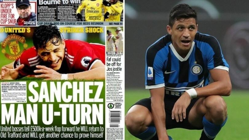 """Sanchez-Inter, è finita? Solskjaer: """"In estate tornerà allo United"""""""