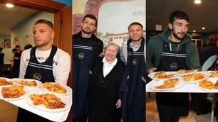 Lazio, cena di beneficenza da suor Paola: Immobile cameriere top