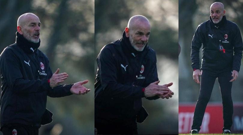 Milan, Pioli carica la squadra in allenamento