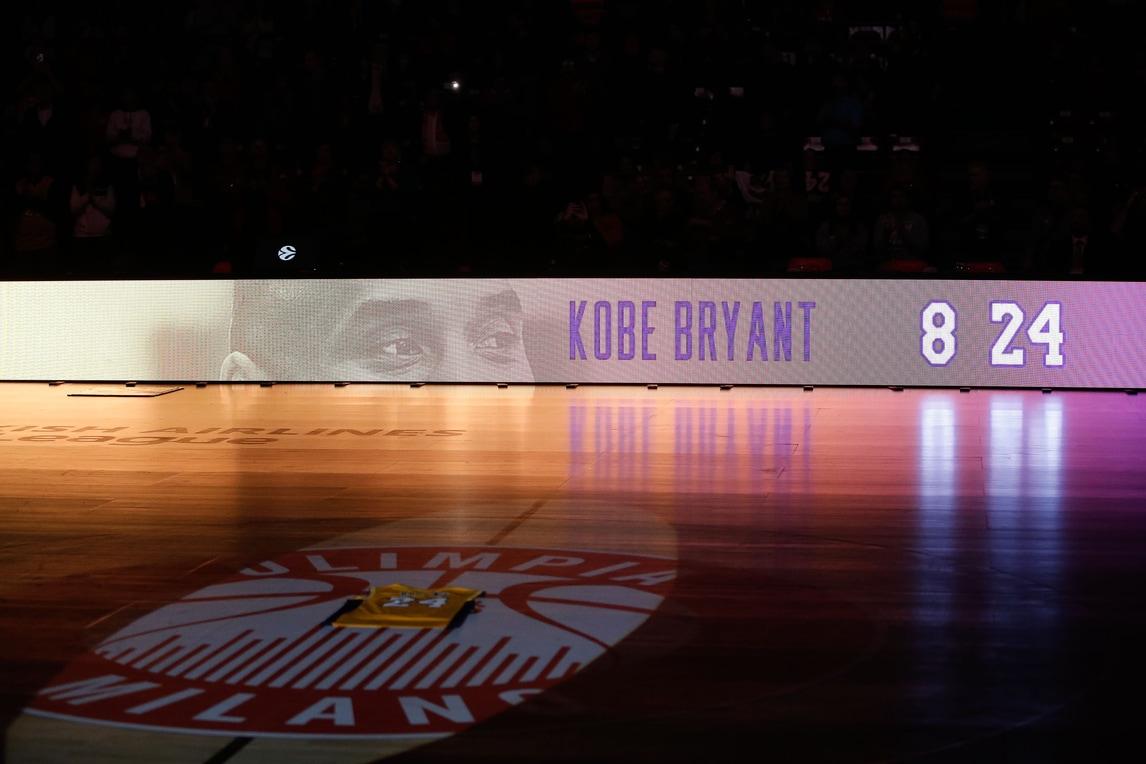 Kobe Bryant, il ricordo in Olimpia Milano-Bayern Monaco