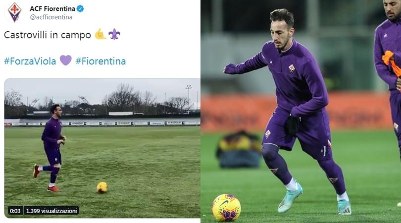 Fiorentina, Castrovilli torna in campo