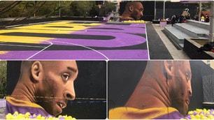 Kobe Bryant, inaugurato a Napoli il murale di Jorit
