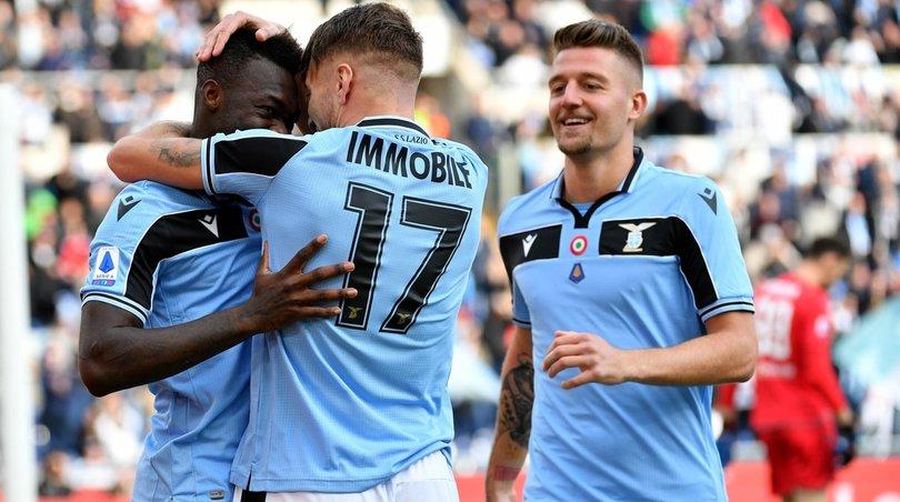 Lazio-Spal 5-1: doppiette per Immobile e Caicedo