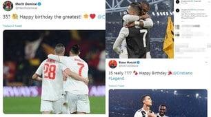 Ronaldo, gli auguri dei compagni per i suoi 35 anni
