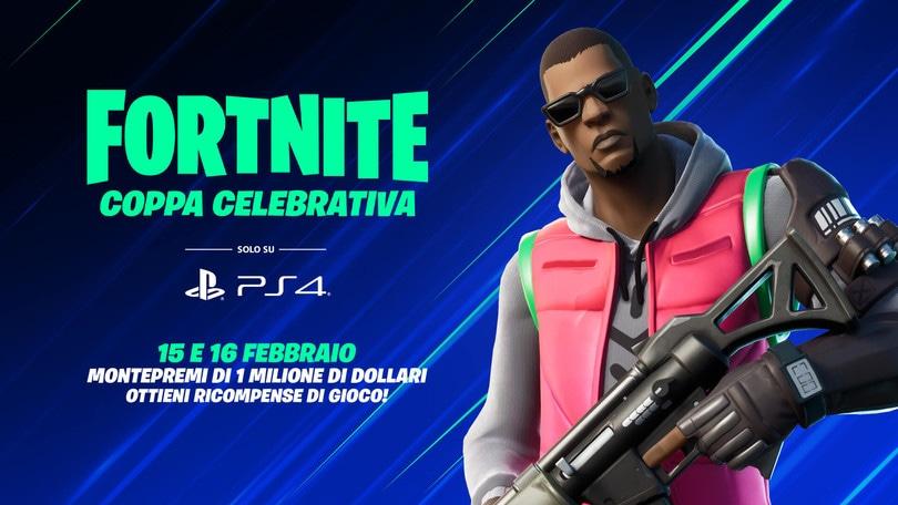 Annunciata la Coppa Celebrativa di Fortnite su PS4
