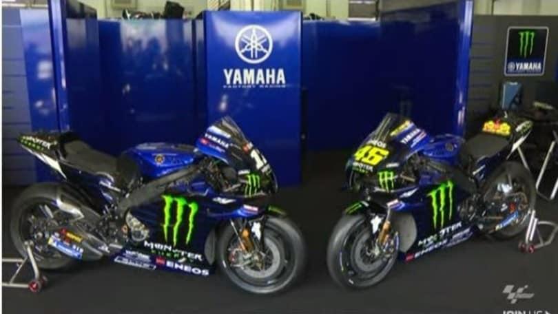 MotoGp: ecco la Yamaha di Rossi e Vinales