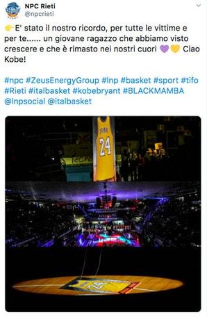 Kobe Bryant, che emozioni a Rieti per la sua maglia n.24