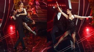 Il tango sexy di Georgina al Festival di Sanremo