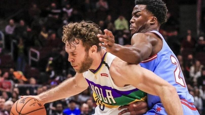 Nba, Melli vince con i Pelicans. Spurs ko, Belinelli fa il comprimario