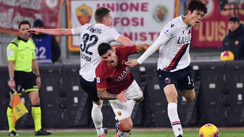 Roma-Bologna 2-3, il tabellino