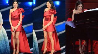 Sanremo 2020, Francesca Sofia Novello al pianoforte: Valentino Rossi non c'è